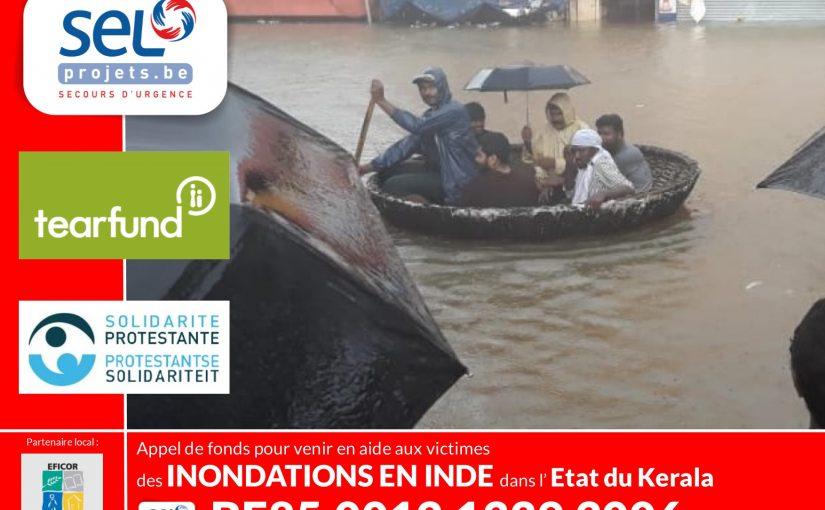 Appel d'urgence pour les inondations en Inde (Etat de Kerala)